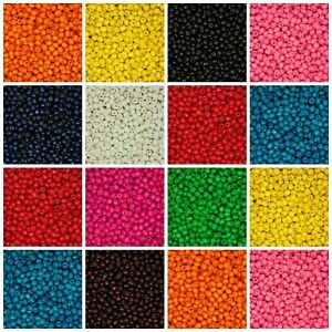 200-Pcs-8mm-ROUND-WOODEN-BEADS-WOOD-CRAFT-BEAD-KIDS-MANY-COLOURS-UK