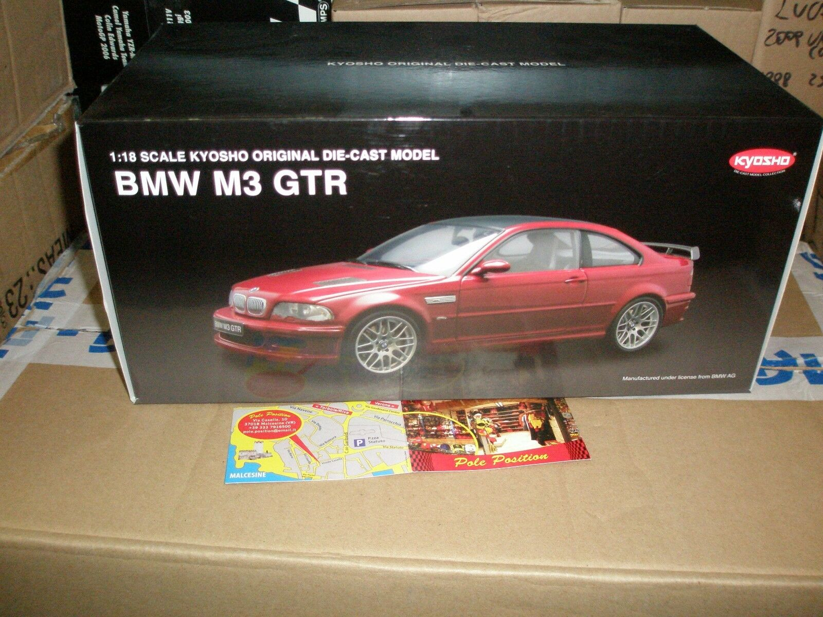 08507R KYOSHO 1 18 BMW M3 GTR rouge  FREE SHIPPING WORLDWIDE