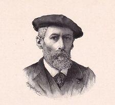 Portrait XIXe Louis Emile Adan Peintre Peinture Illustrateur