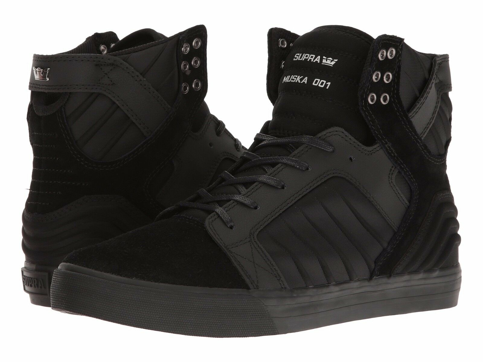 NEW SUPRA HOP SKYTOP EVO BLACK BLACK SURF SKATEBOARD HIP HOP SUPRA SPORTS SHOES 9.5 e67e1f