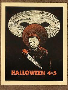 image is loading michael myers halloween 4 amp 5 qfschris art - Halloween Mondo Poster