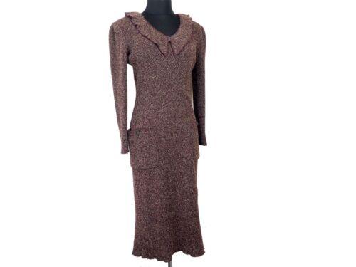Authentic Chanel Nylon Purple Size 40 Long Dress S