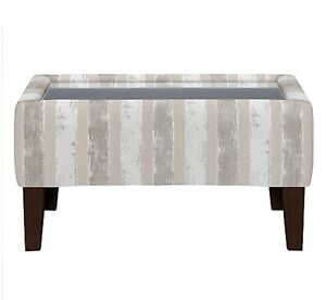 Details About Regency Square Glass Coffee Table Marlow Stripe Putty From John Lewis Rrp 850