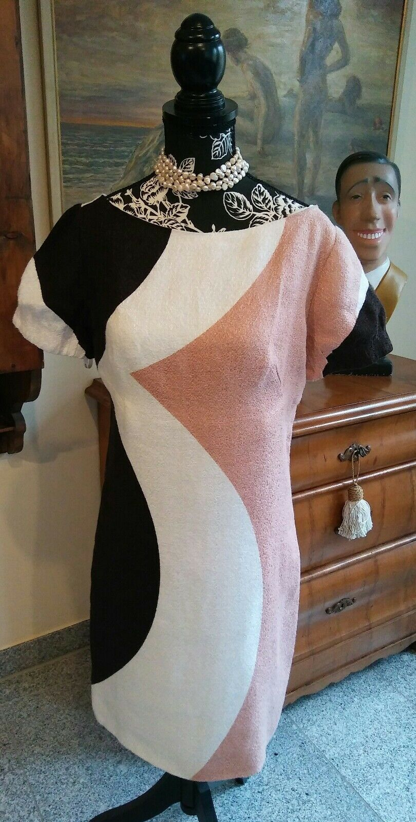 Couture Damenkleid Rohseide VERSACE perfekt in Gr. 36 38