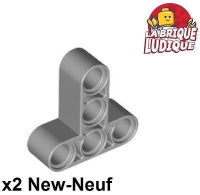 Liftarm 3x3 T shape thick épais GRIS GREY 4552348-60484 Lot x2 Lego