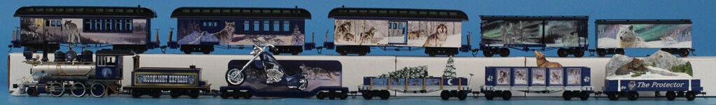 Bachmann HO Gauge Moonlight Moonlite Express Train Set 1 Engine 10 Cars  BNC27U