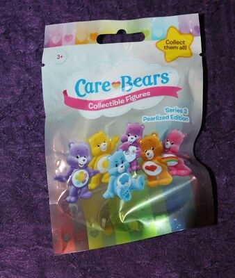 Care Bears Collectible Figures Series 3 Pearlized Edition Cheer Bear NEW