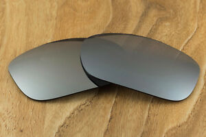 09ca348966 Image is loading Dark-Metallic-Silver-Polarized-Mirrored-Replacement-Lenses -for-