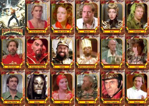 Sam Jones Max Von Sydow Timothy Dalton 1980 Flash Gordon movie trading cards