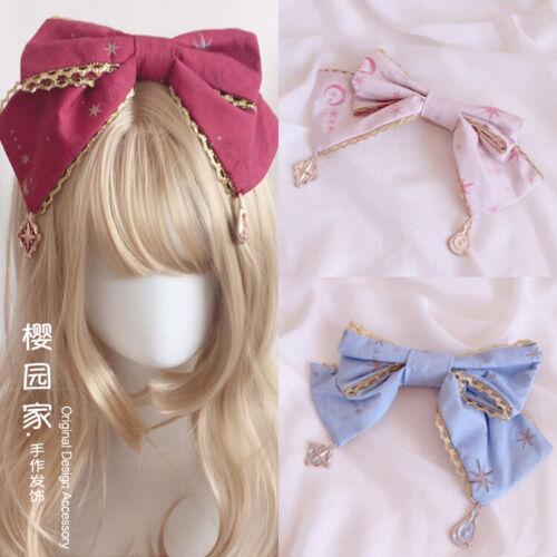 Japanese Sweet Lolita Kawaii Bow Pendant Brooch Head band Fairy Headwear