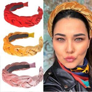 High-grade-Braided-Headband-Hair-Women-039-s-Hoop-Velvet-Accessories-Hairband-Band