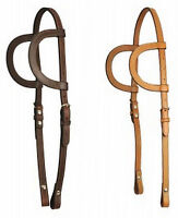 Bobby's Western Tack Double Ear Two Ear Horse Headstall Dark Or Medium Oil