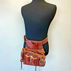 Occidental Leather Tool Belt 5085 size L Work Thick Heavy all Leather PB
