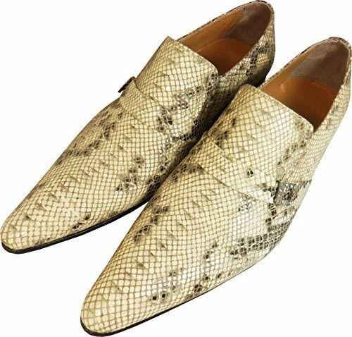Original chelsy Designer regaIan Python zapatos caballero zapatillas Python patrón 45