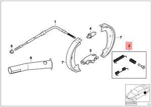 BMW 323i 328i 323Ci 328Ci 325Ci Z4 128i Ate Hardware Kit for Parking Brake Shoes