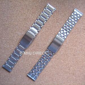 Mens-Stainless-Steel-Adjustable-Deployment-Watch-Strap-Bracelet-Band-20mm-22mm