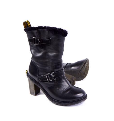 Dr. Martens Hanna Engineer Women's 6 Black Leather