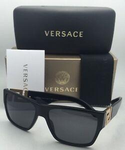 39a14ecedf Polarized VERSACE Sunglasses VE 4296 GB1 81 59-16 Black   Gold Frame ...