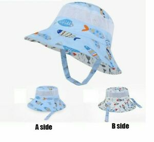 Summer-Cap-Cotton-Breathable-Panama-Kids-Mesh-Bucket-Wide-Brim-Beach-Sun-Hat