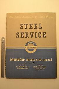 J58-DRUMMOND-MCCALL-amp-CO-Steel-Service-Catalog-1942-116-pgs-tube-bar-flats