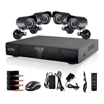 8CH DVR 600TVL CCTV Home Security 4 IR Outdoor Night Camera System US CC