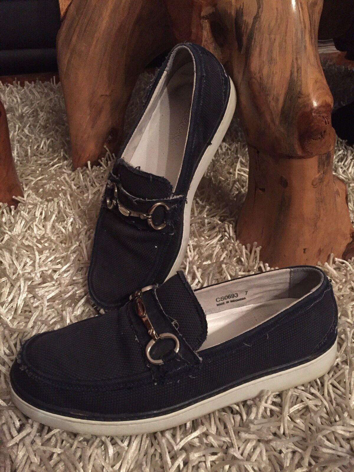 D&G Herren Sneakers 40/41 dunkelblaue Denim Jeans Jeans Jeans Optik Top a2435b