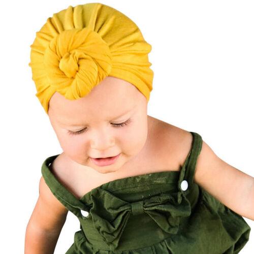 1pcs Soft Baby Girls Kids Toddler Hairband Headband Turban Big Knot Head-Wrap