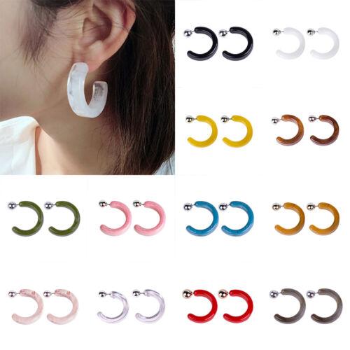 Fashion Women Acrylic C Style Earring Dangle Drop Stud Earrings Jewelry Gift