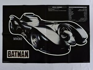 Batmobile-Poster-35x23-in-Specs-Performance-Data-BATMAN-1989-movie-GLOWS-in-Dark