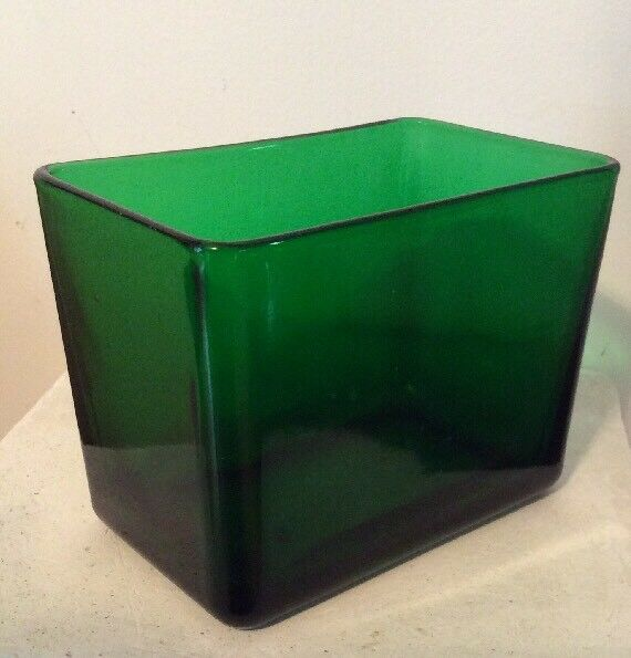 Vintage Napco Green Glass Planter Vase 1164 Ebay