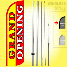 Grand Opening Windless Swooper Flag Kit 15 Feather Banner Sign Yrq005 H