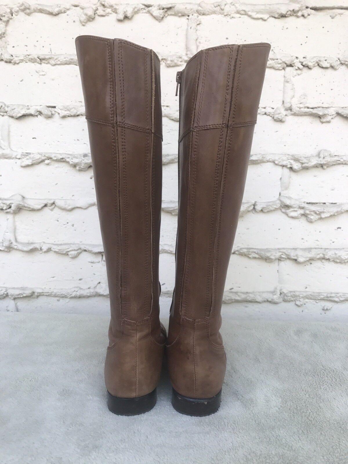 EUC CORSO COMO damen Riding Stiefel braun braun braun Leather Tall Knee High Größe US 7 M 302846