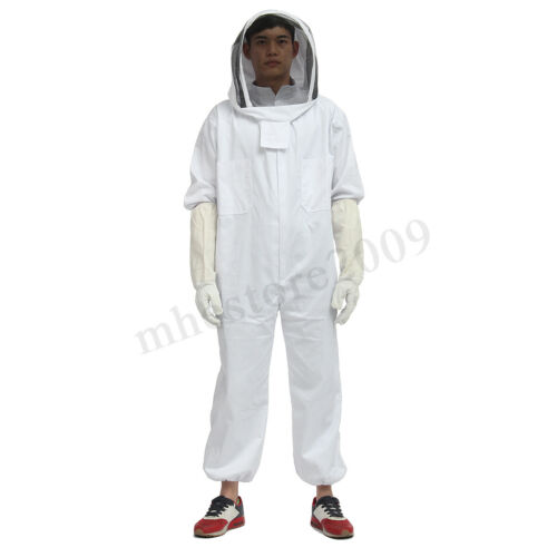 Heavy Duty Thick Beekeepers Bee Full Body Beekeeping Suit Ventilated Veil  Z!
