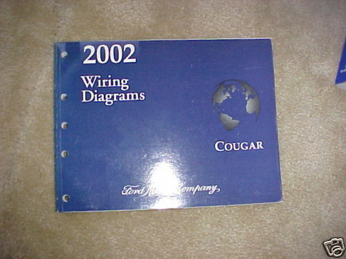 2002 Ford Cougar Factory Original Wiring Diagrams