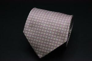 CORNELIANI-Silk-Tie-Pink-Checked-Pattern-Made-in-Italy