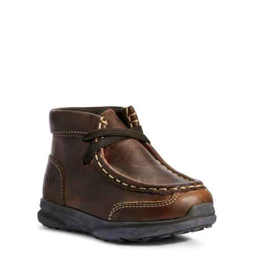 Details about  /Ariat Toddler Lil/' Stomper Brown Garrison Spitfire Shoes A443000202