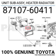 871070K010 Genuine Toyota UNIT SUB-ASSY HEATER RADIATOR 87107-0K010