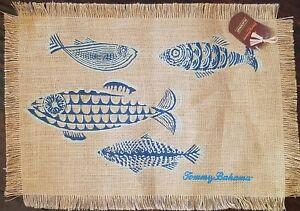 Cloth Placemats Nature Fish Ocean Sea Marine Underwater Nautical Set of 2
