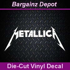 Vinyl Decal ... METALLICA ... Band Car Laptop Sticker Vinyl Decal