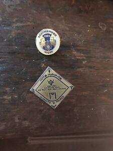 Details about Two Vintage Masonic Pins
