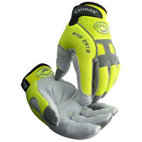 Caiman 2918 Genuine Winter Insulated Deer Skin Hi-viz Mechanic Gloves- Large