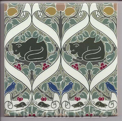 Metric Porcelain Tile Voysey Cats Walls Floors Kitchens Bathrooms Splashbacks