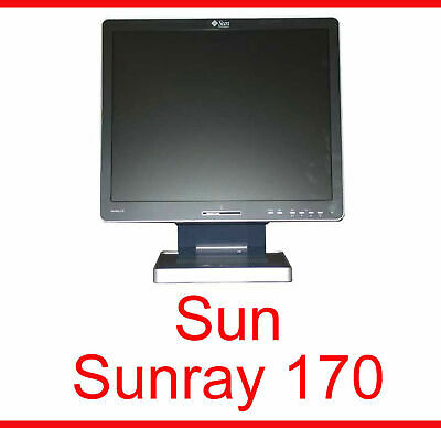 """Gentile Sun Ray Sunray 170 Thin Client Con 17 """" 43 Cm Tft Monitor 380-1122-03"""