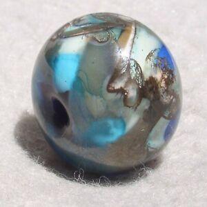 SALVO Handmade Art Glass Focal Bead Flaming Fools Lampwork Art Glass SRA