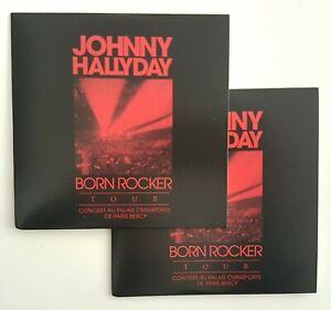 JOHNNY-HALLYDAY-LIVE-BERCY-2-x-CD-COMME-NEUF-BORN-ROCKER-TOUR