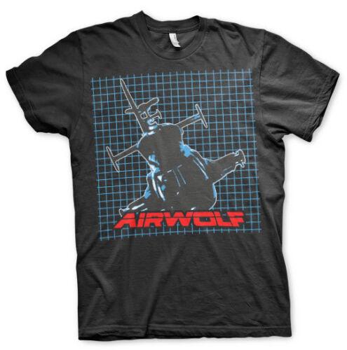 Officially Licensed Airwolf Pattern Big /& Tall 3XL,4XL,5XL Men/'s T-Shirt