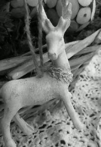 Decoracion-para-arbol-de-navidad-ciervo-Shabby-Chic-creme-antik-Nostalgia