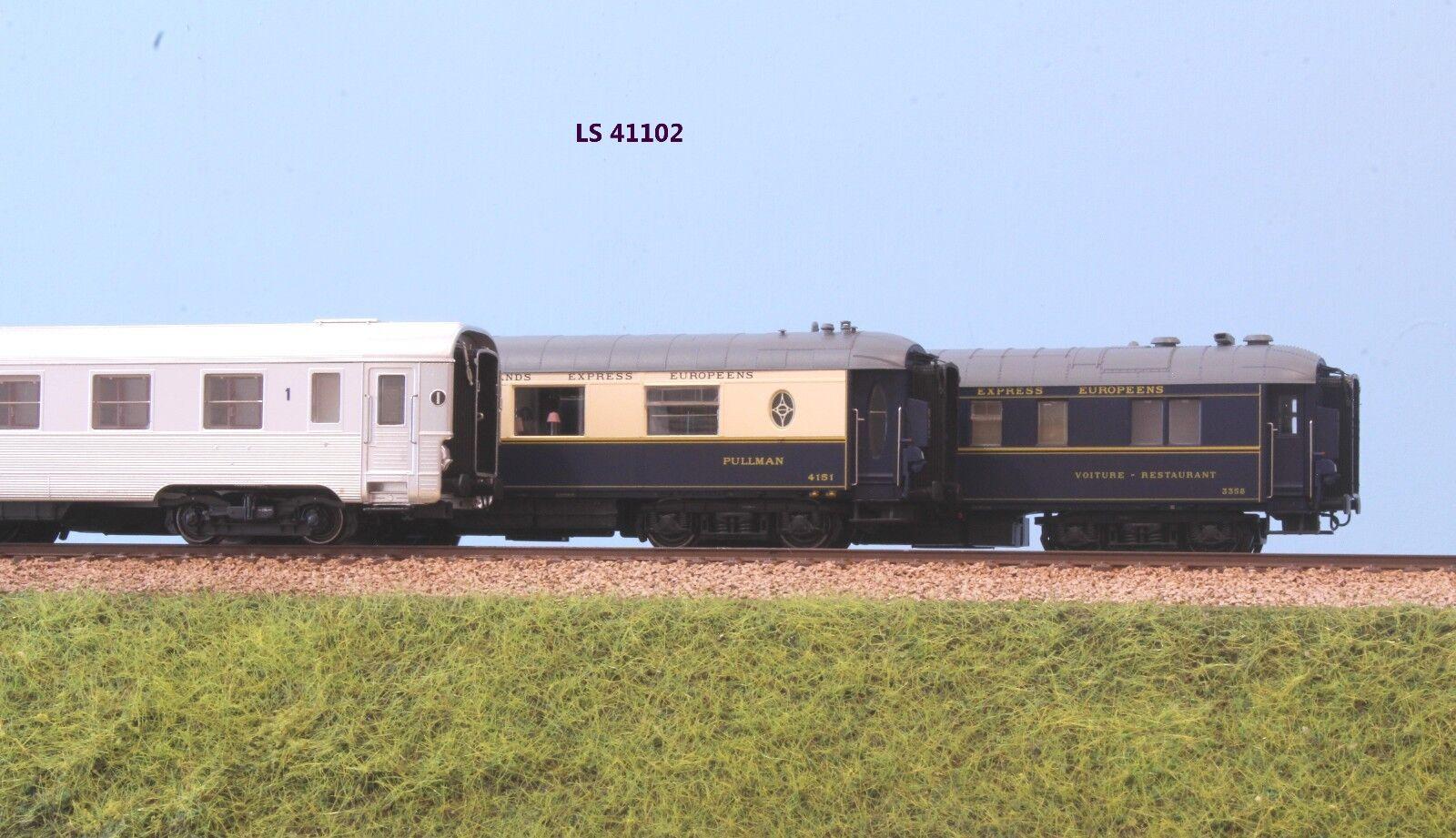 LS MODELS  42 SNCF set carrozze LE MISTRAL carrozze A8u  CIWL