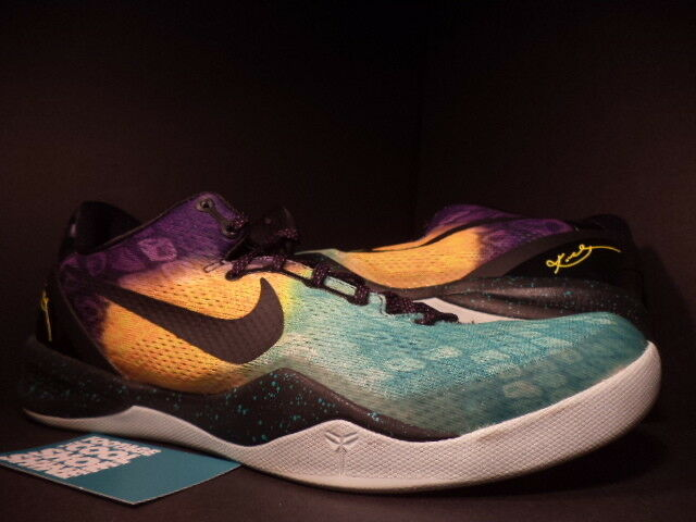Nike Zoom KOBE VIII 8 SYSTEM EASTER FIBERGLASS YELLOW PURPLE GREEN BLACK GREY 12
