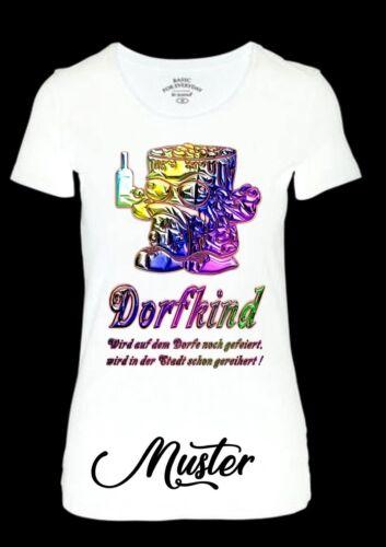 Bügelbild Dorfkind Color-T-Shirts-Disco-usw...Größe wahlweise** 4165